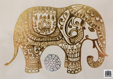 Gold_Tattoo_Elefant