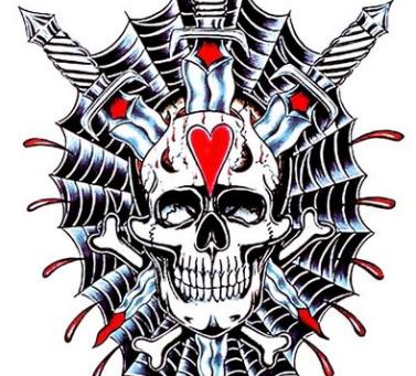 Temporary Tattoo Skull
